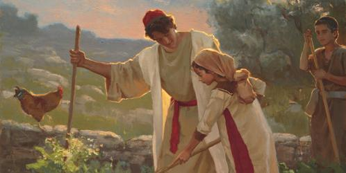 Jesus Teaching in the Garden by Michael Malm