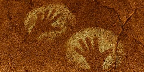 handprint on ancient wall