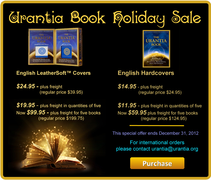 Urantia Book Sale - Christmas 2012