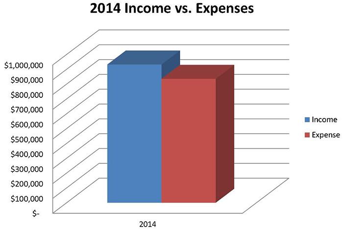 Gastos e ingresos en 2014