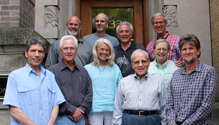 Dick Reim, David Neufer, Phil Calabrese, Gard Jameson, Nigel Nunn, Bruce Johnson, Marta Elders, Ralph Zehr, Marjorie Ray, Neal Kendall