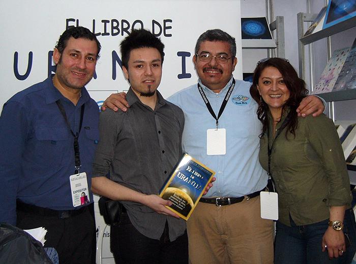 Marcelo Galaz, a visitor, Agustín Arellano, Lissette Mancilla
