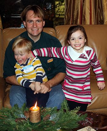 Chris Wood, his son, Bettina Strumfeld