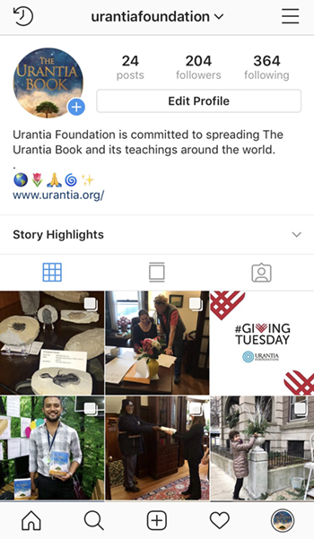Instagram Urantia Foundation