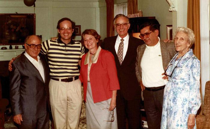 "1968: Jacques Dupont, Martin Myers, Carolyn Kendall, Tom Kendall, Alain Le Corvec, Emma ""Christy"" Christensen"
