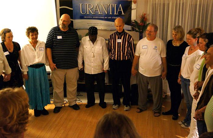 Will Sherwood, Pato Banton, ja Richard Keeler at the Urantia Book Los Angeles Association inauguration.