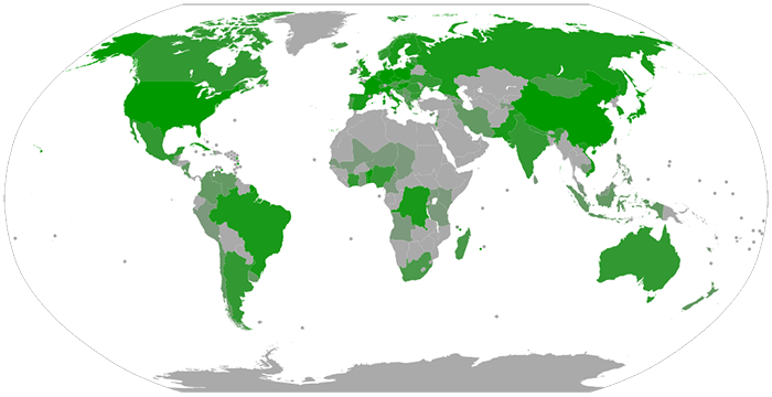 Number of Esperanto association members by country (2015)