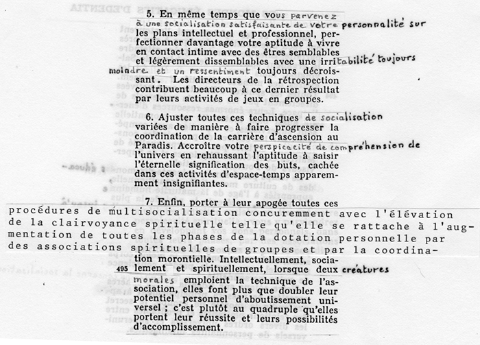 Sample of corrections in the 1978 French revision