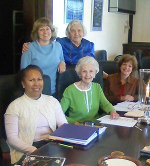 Susan Flacks, Pauline Friedman, Pam Maunakea, Dorothy Elder, Jane Ploetz