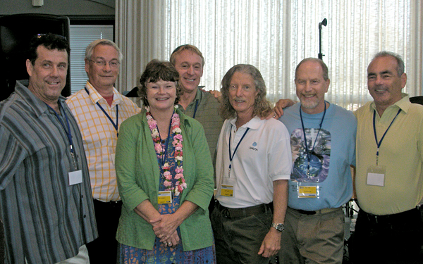 Robert Burns, Seppo Kanerva, Paula Thompson, Mo Siegel, James Woodward, Marvin Gawryn, and Gaétan Charland
