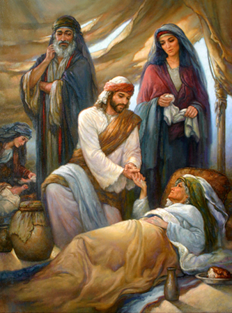 Jesus helping the sick