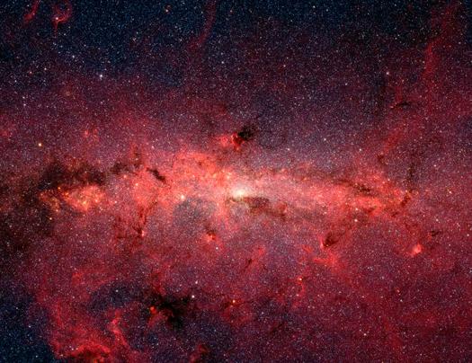 Luz del centro del universo. Desde el Hubble, el centro de la Vía Láctea.