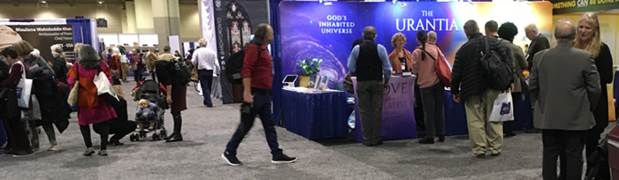 Urantia Book booth. 2018 Parliament of the World's Religions