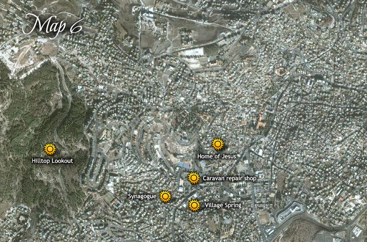 Názáret óvárosi része, és Jézus otthona
