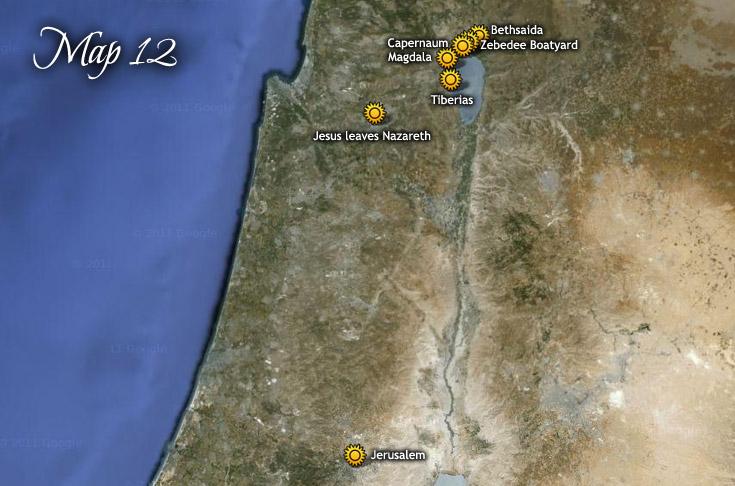 Jesus Leaves Nazareth for Zebedee Boatyard & Jerusalem