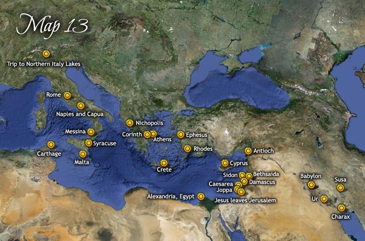 Utazása Rómába, Görögországba és Mezopotámiába