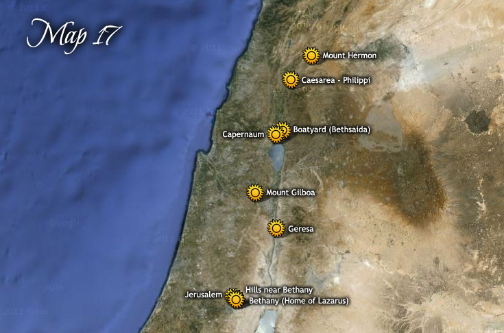 Travels from Mt. Hermon to Jerusalem & Return to Galilee