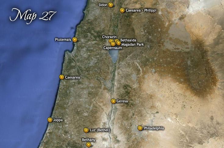 Jeruzsálem és észak felé