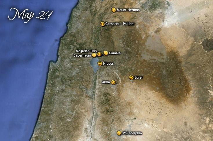 Transfiguración en el Monte Hermón y gira por la Decápolis