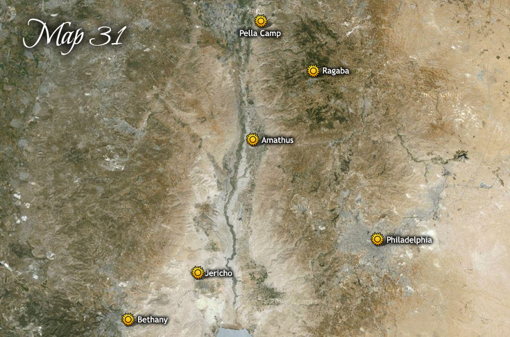 A pereai látogatás, és visszatérése Betániába Lázár feltámasztására