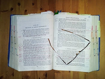 Urantia Book looking dog-eared and tattered