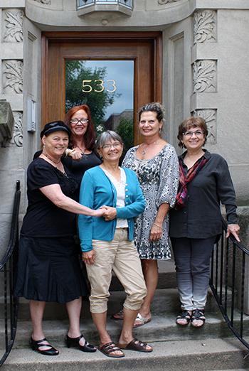 Share Beasley, Katharina Becker, Carrie Prentice, Line St-Pierre, Doreen Heyne