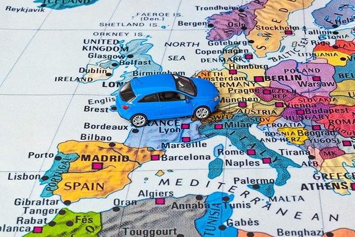 Europe Map Car Toy Travel
