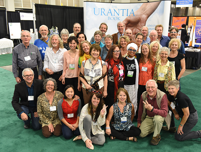 Urantia Book readers at the Parliament of the World's Religions (Photo by Steve Rohrbach)