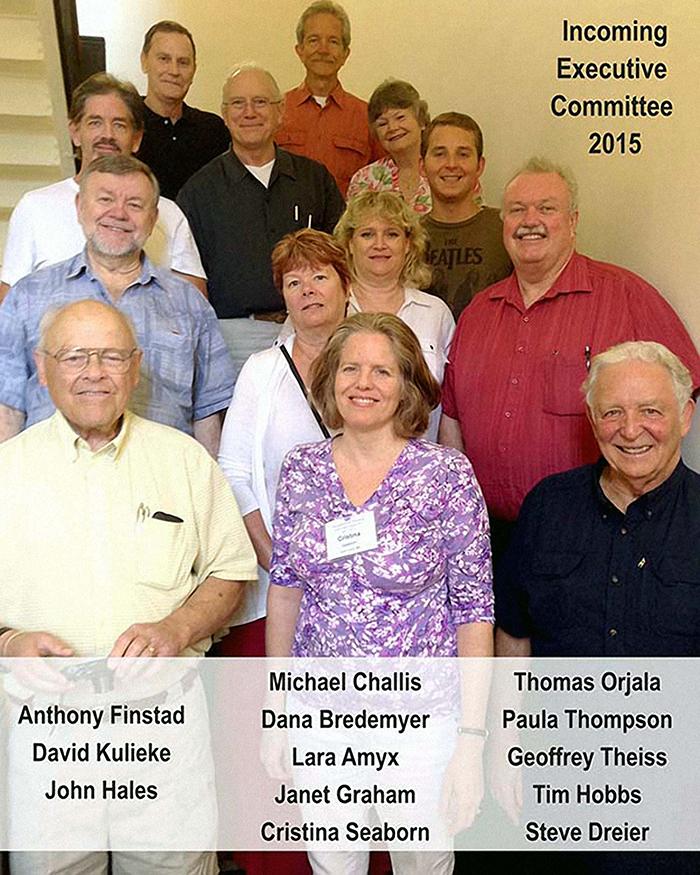 Comité Ejecutivo entrante 2015 de la Urantia Book Fellowship